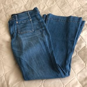 Mid-rose bell flare jeans